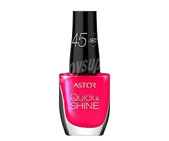 ASTOR QUICK & SHINE Esmalte de uñas color rosa, número 203, secado en 45 segundos, Quick & Shine astor