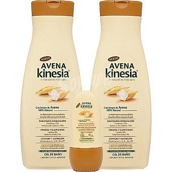 Kinesia gel de baño con serúm de Avena + regalo desodorante roll-on 50 ml Pack 2 bote 650 ml