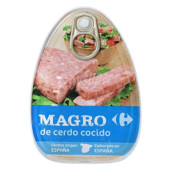 Carrefour Magro de cerdo cocido en su jugo 220 g