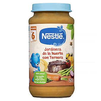 Nestlé Tarrito de ternera a la jardinera de la huerta a partir de 6 meses 250 g