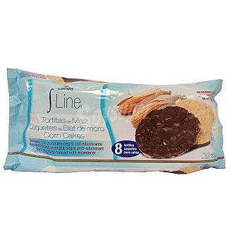 S.LINE Tortitas maiz con chocolate 130 G