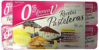 Hacendado Yogur desnatado recetas pasteleras (2 queso C/ARANDANOS-2 MANZANA-2 LIMON-2 stracciatella) Pack 8 x 125 g - 1 kg