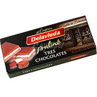 Delaviuda Turrón de 3 chocolates Caja 300 g