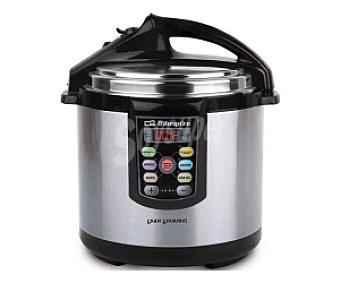 ORBEGOZO HPE6075 Olla a presión eléctrica programable, capacidad de , cocción ultrarápida, recipiente antiadherente 6 litros