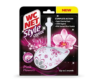 WC Net Pastillas WC Pink Flowers style crystal 36,5 g