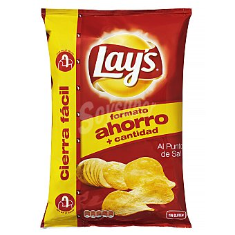 Lay's Patatas fritas lisas lay's punto sal Paquete 220 g