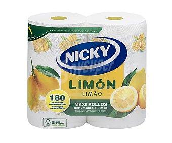 Nicky Rollos de cocina Maxi perfumados al limón 2 uds