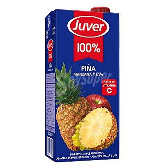 Juver Zumo concentrado 100% piña manzana y uva Envase 1 lt