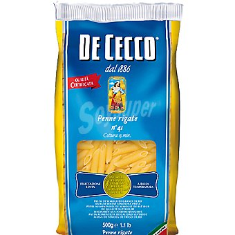 De Cecco Pasta Penne Rigate 41 Paquete 500 g