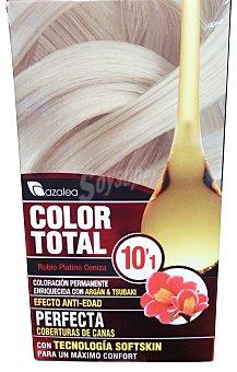 AZALEA Tinte coloración permanente color total Nº10.1 rubio platino (enriquecido con aceite argán tsubaki)  1 unidad