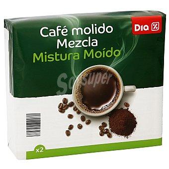 DIA Café molido mezcla natural Pack 2 x 250 g