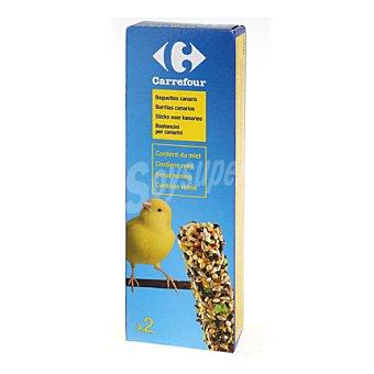 Carrefour Barritas para canarios con miel Pack 2x60 gr