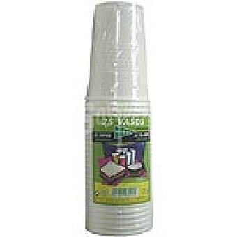El Corte Inglés Vaso blanco 25 cl paquete 25 unidades Vaso 25 cl