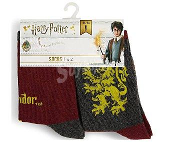 Harry Potter Lote de 2 pares de calcetines para niño Talla 31/34.