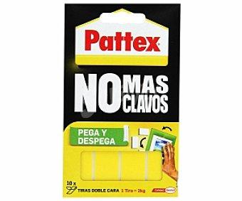 Pattex Cintas doble cara No Más Clavos 10 Unidades