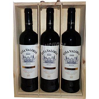 VIÑA VALORIA Vino tinto reserva doca Rioja Estuche 3 botellas 75 cl