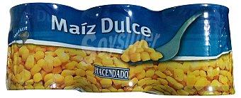 Hacendado Maiz dulce conserva Bote pack 3 x 150 g - 450 g