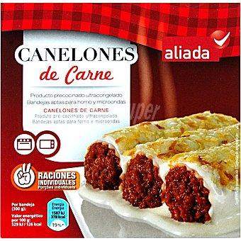 Aliada Canelones de carne 2 raciones individuales Estuche 600 g