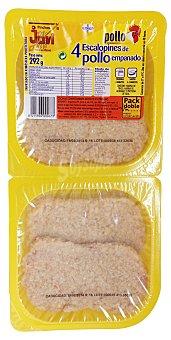 Jovi Escalope pollo fresco (empanado) Bandeja 292 g