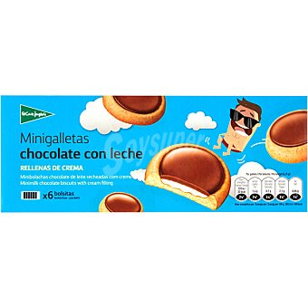 ALIADA minigalletas de chocolate con leche rellenas de crema estuche 235 g
