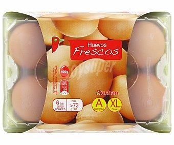 Auchan Huevos Clase XL 6u