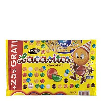 Lacasitos Lacasa Grageas de chocolate Pack de 9x16 g
