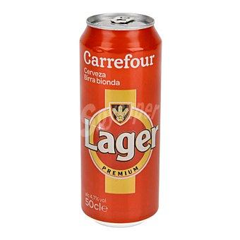Carrefour Cerveza lager premium Lata de 50 cl