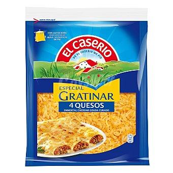 El Caserío Queso rallado 4 quesos especial para gratinados Bolsa 140 g