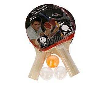 EDCO Set básico de ping pong, 2 raquetas + 3 pelotas 1 unidad