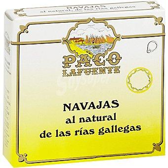 PACO Navajas al natural de las rías gallegas 3-4 piezas Lata 65 g neto escurrido