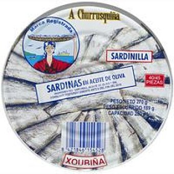 Churrusquiña Sardinilla en aceite de oliva A roma Lata 270 g