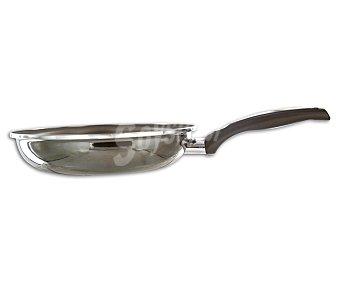 MAGEFESA Sartén de aluminio con recubrimiento antiadherente modelo Champagne, 23 centímetros. Apta para todo tipo de fuegos 1 Unidad