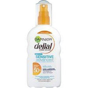 Delial Garnier Loción solar FS50+ piel sensible Spray 200 ml