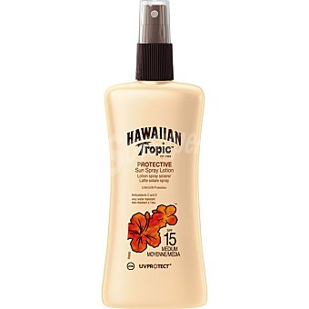 Hawaiian Tropic Loción solar protectora FP-15 Spray de 200 ml