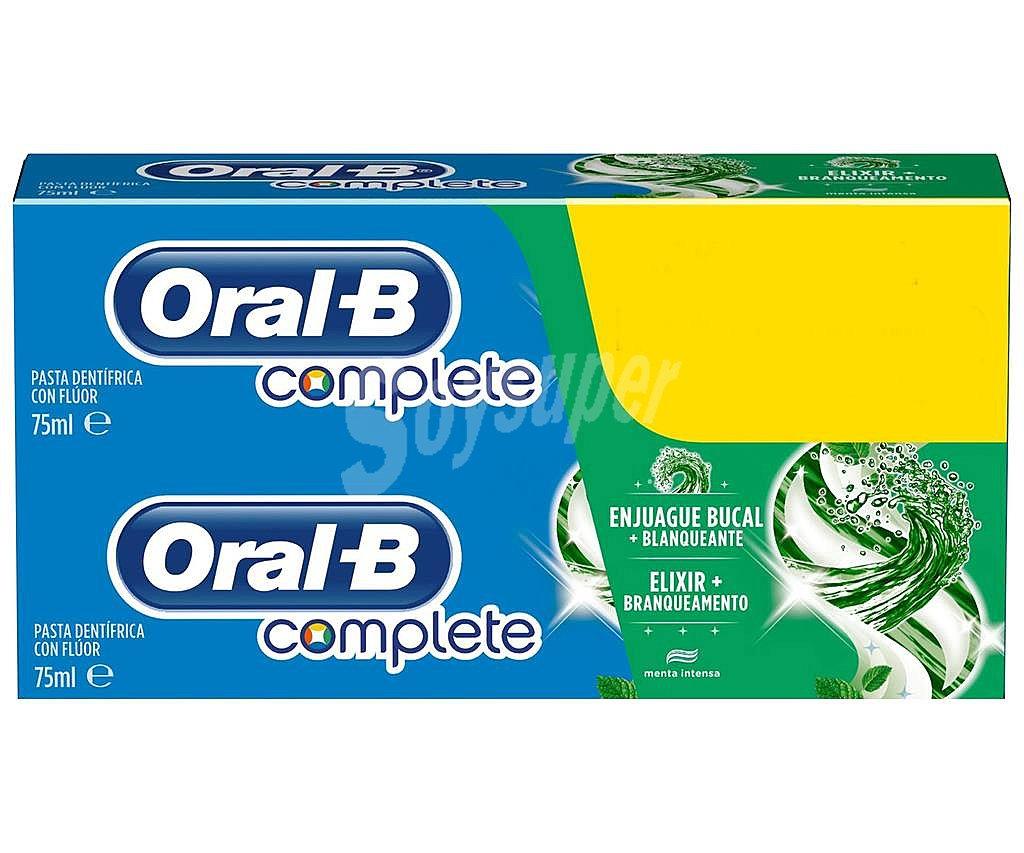 Oral-B Pasta de dientes blanqueante con fluor y acción enjuague bucal  Complete 2 x +. Precio medio 3 48463d917142