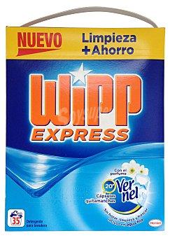 Wipp Express Detergente lavadora polvo aroma vernel Paquete 2800 g -35 lavados
