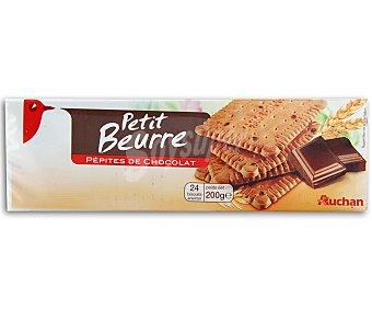 Auchan Galletas de mantequilla con pepitas de chocolate 200 gramos