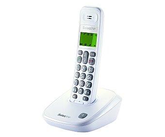 SELECLINE SENIORS Teléfono inalámbrico (producto económico alcampo), Blanco, especial para personas mayores, agenda para 20 contactos, manos libres, teclas grandes, pantalla iluminada,