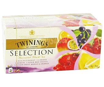 Twinings Selección de Tés Aromáticos (Té Negro y Aroma de 4 Frutas Rojas) Caja 25 Unidades