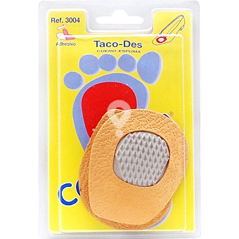 Plantilla taco cuero látex antideslizante talla única