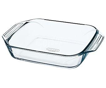 PYREX Fuente rectangular fabricada en vidrio borosilicato, 28x17 centímetros, apta para horno, microondas y lavavajillas, modelo Optimum 1 unidad