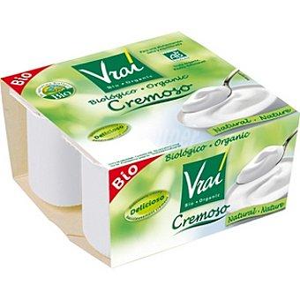 Vrai Yogur natural cremoso biológico Pack 4 unidades 100 g