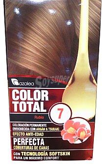 Azalea Tinte coloración permanente color total Nº7 rubio (enriquecido con aceite argán y tsubaki) u