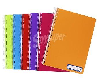 Grafoplás Cuaderno de tamaño DIN A4, con cuadricula de 4x4 milímetros, 80 hojas de , tapas de polipropileno y encuadernación con espiral metálica GRAFOPLAS. Este producto dispone de distintos modelos o colores. Se venden por separado SE SURTIRÁN SEGÚN EXISTENCIAS 90 gramos