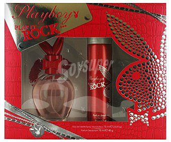 Playboy Fragrances Estuche Colonia Mujer Woman Rock: Colonia 75ml +desodorante 75ml 1u
