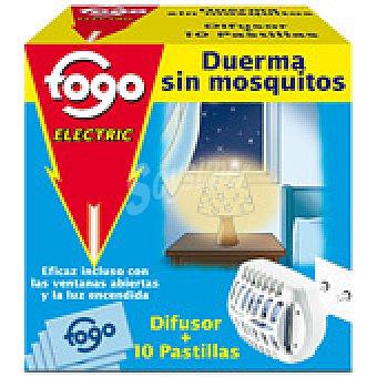 Electrico Fogo antimosquitos pastillas aparato + 10 pastillas