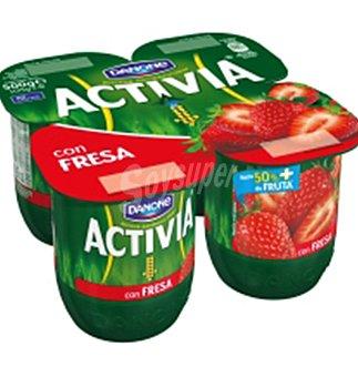 Activia Danone Con fresas 4 UNI