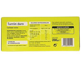 PRODUCTO ECONÓMICO Turrón duro 200 gramos