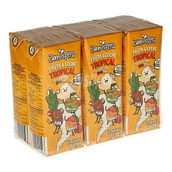 DIA Bebida de frutas con leche tropical zumosfera Pack 6 unidades 200 ml