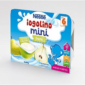 Iogolino Nestlé Postre lacteo pera mini tarrina 6 unidades de 60 g
